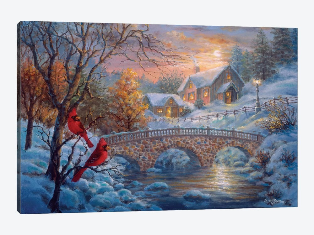 Winter Sunset by Nicky Boehme 1-piece Canvas Wall Art