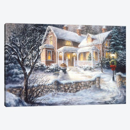 Winter's Welcome Canvas Print #BOE172} by Nicky Boehme Art Print