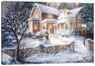 Winter's Welcome Canvas Art Print