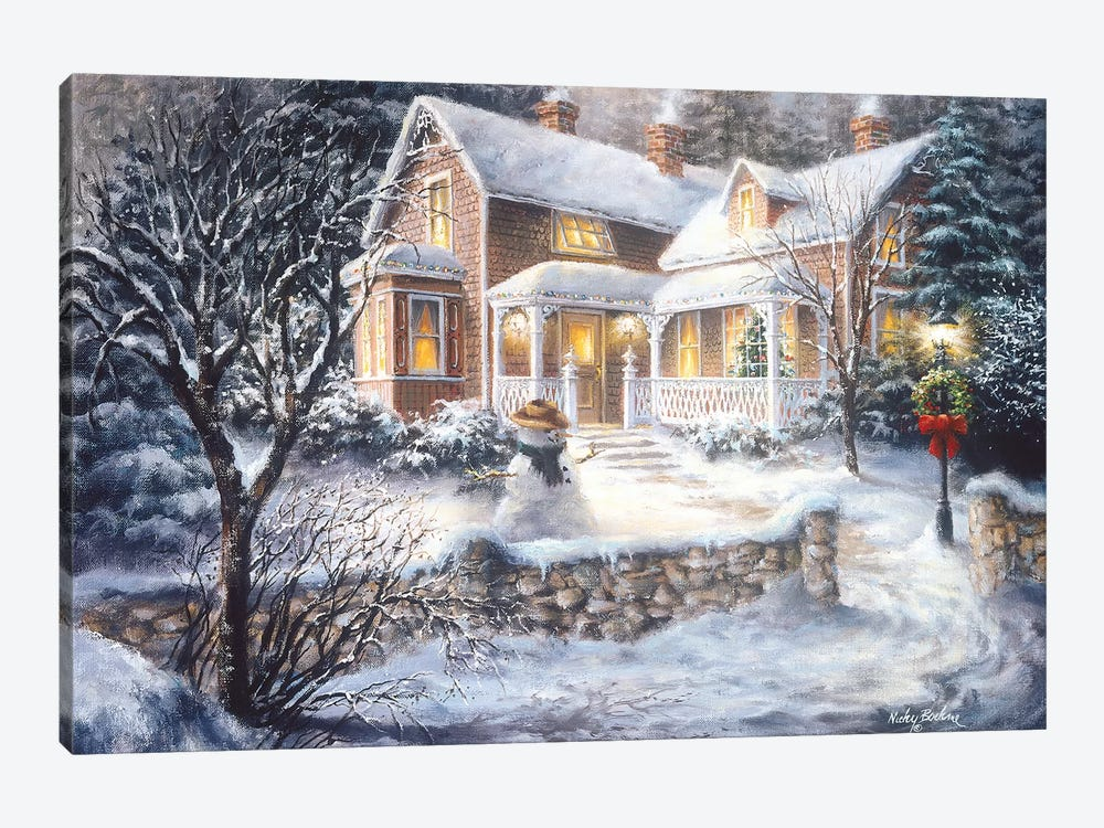 Winter's Welcome by Nicky Boehme 1-piece Art Print