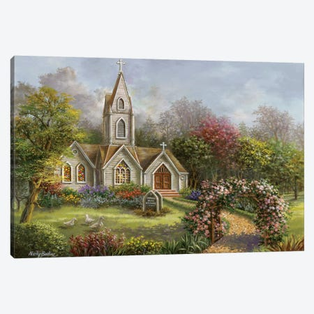 Worship In Its Glory Canvas Print #BOE173} by Nicky Boehme Canvas Art Print
