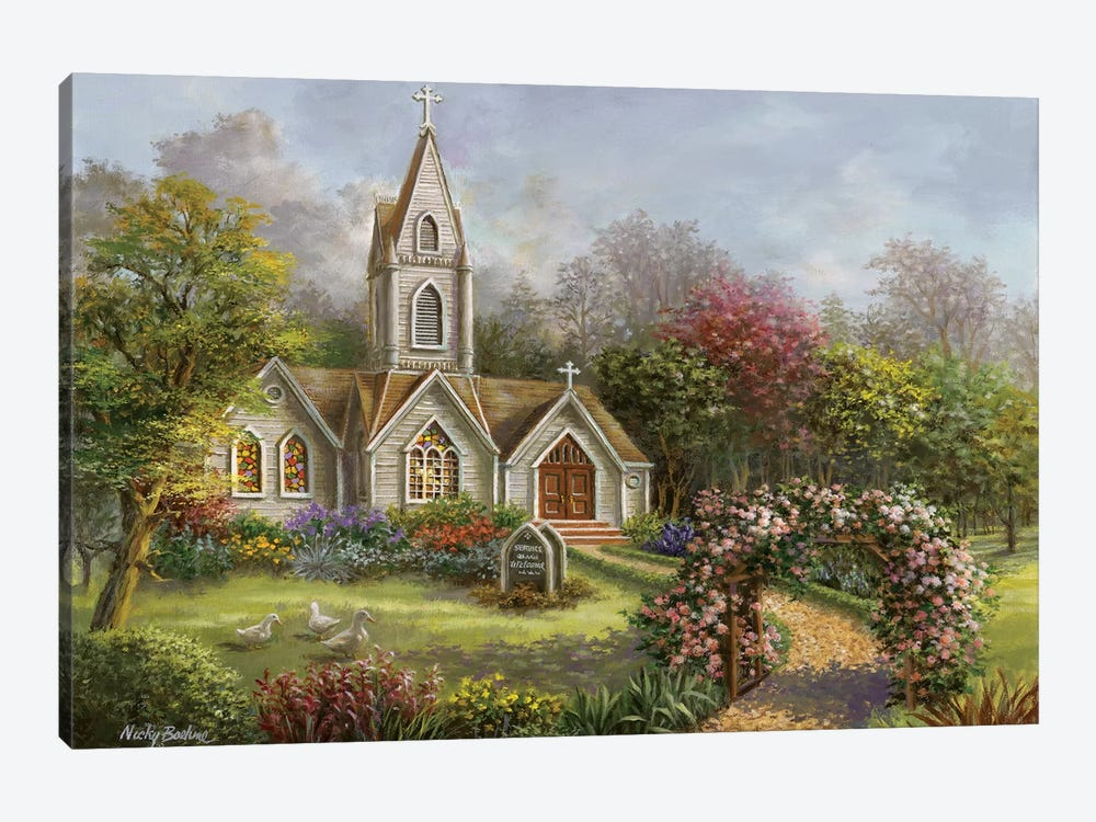 Worship In Its Glory by Nicky Boehme 1-piece Canvas Wall Art