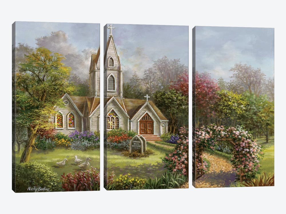 Worship In Its Glory by Nicky Boehme 3-piece Canvas Wall Art