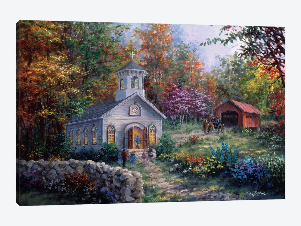 Worship In The Country by Nicky Boehme 1-piece Canvas Art Print