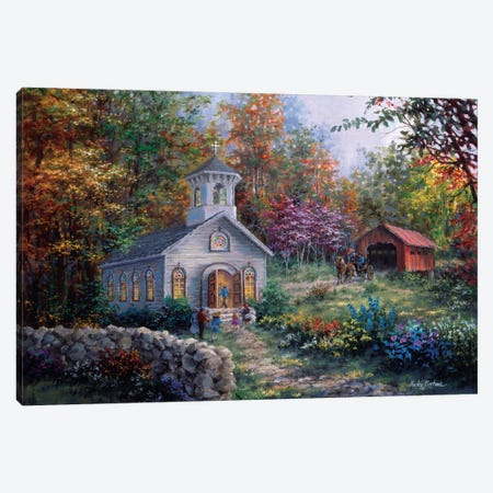 Worship In The Country Canvas Print #BOE174} by Nicky Boehme Canvas Artwork