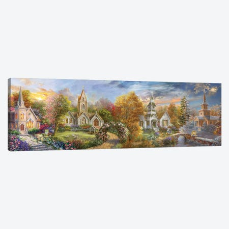 A Church For All Seasons Canvas Print #BOE176} by Nicky Boehme Canvas Wall Art