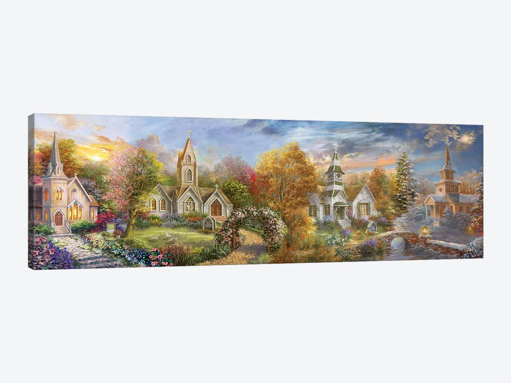 A Church For All Seasons by Nicky Boehme 1-piece Art Print