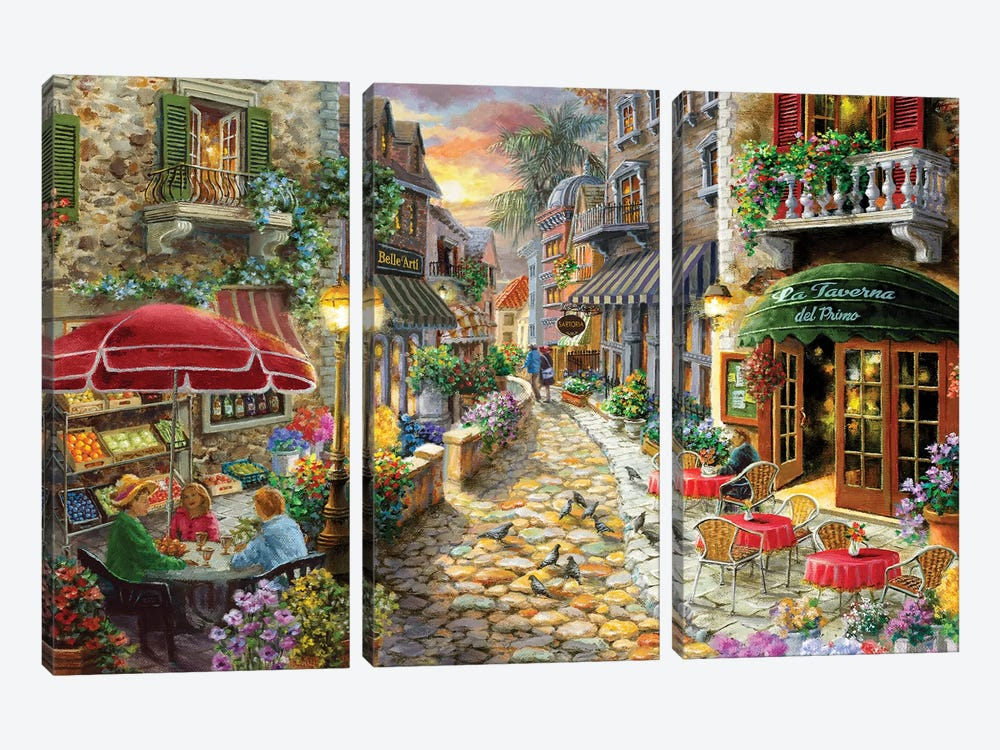 Early Evening In Avola by Nicky Boehme 3-piece Canvas Art