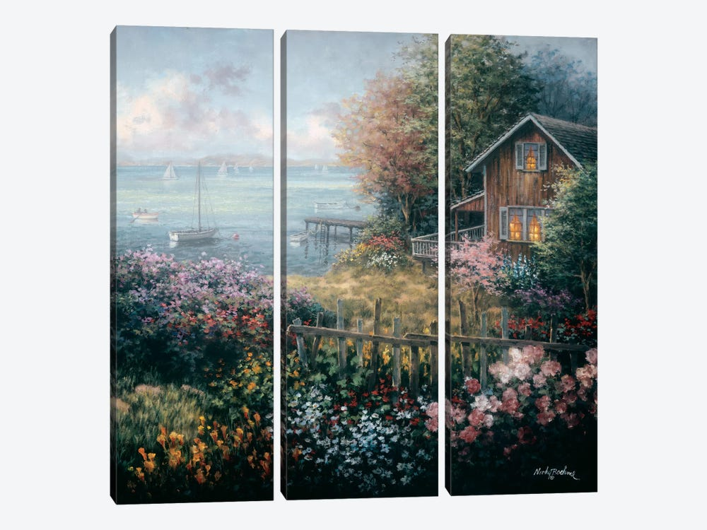 Bay's Domain by Nicky Boehme 3-piece Canvas Art Print