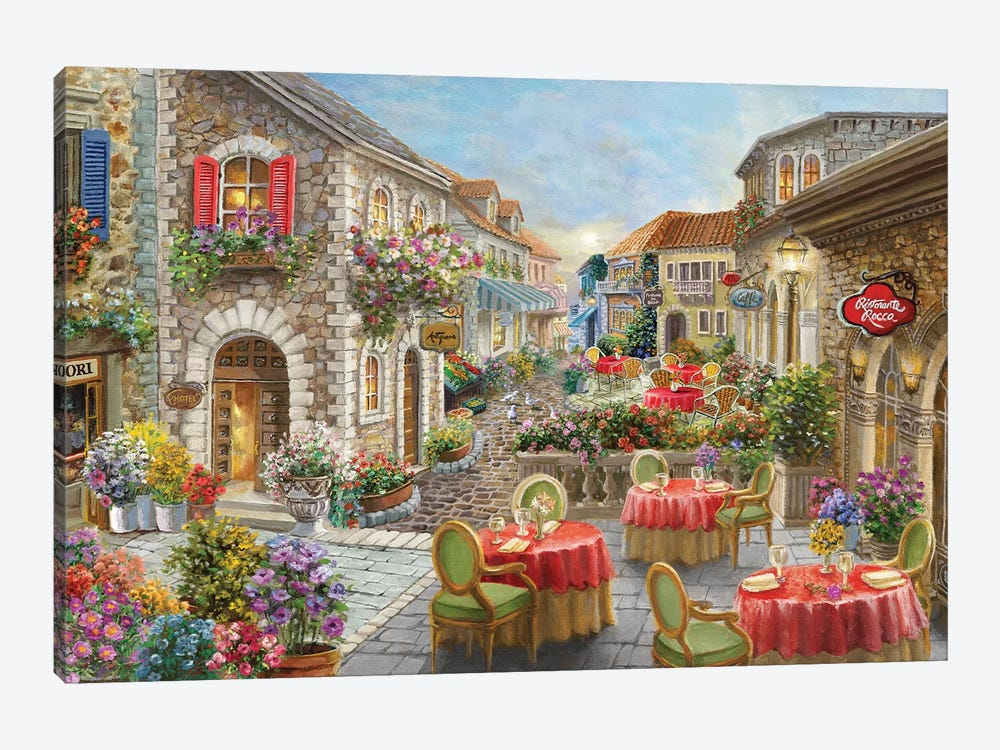 Fiori Caffes by Nicky Boehme 1-piece Canvas Wall Art
