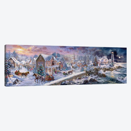 Holiday At Seaside Canvas Print #BOE181} by Nicky Boehme Canvas Wall Art