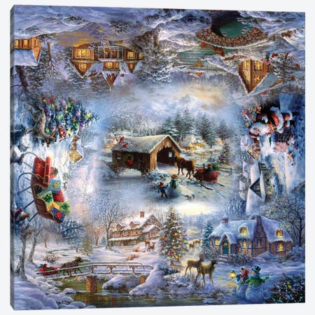 Nicky's Christmas Canvas Print #BOE184} by Nicky Boehme Art Print
