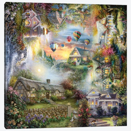 Nicky's Haven Canvas Print #BOE185} by Nicky Boehme Art Print