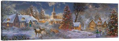 Stillness Of Christmas Canvas Art Print
