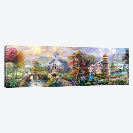Sunday Morning In Spring Canvas Print #BOE187} by Nicky Boehme Art Print