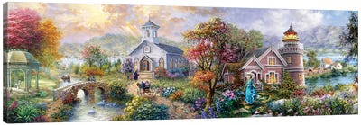 Sunday Morning In Spring Canvas Art Print