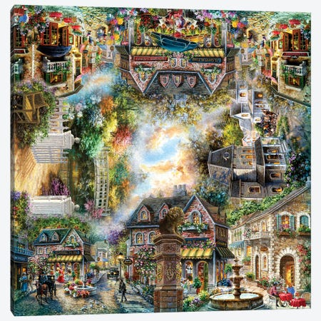 Taking it To The Streets Canvas Print #BOE189} by Nicky Boehme Canvas Art