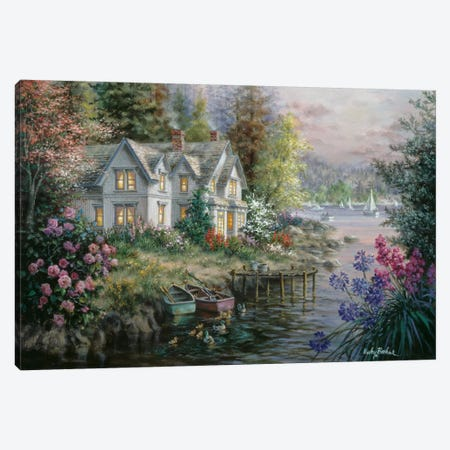 Bay's Landing Canvas Print #BOE18} by Nicky Boehme Art Print