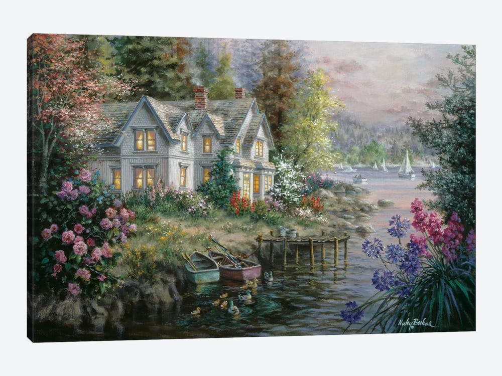 Bay's Landing by Nicky Boehme 1-piece Canvas Wall Art