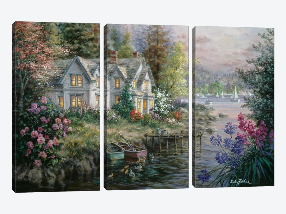 Bay's Landing by Nicky Boehme 3-piece Canvas Art
