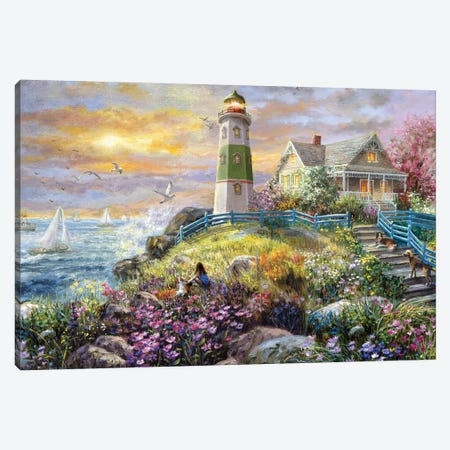 Watching The Sunset Canvas Print #BOE191} by Nicky Boehme Art Print