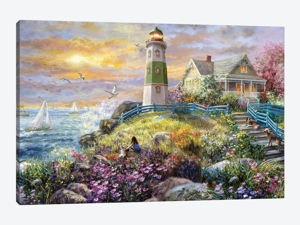Watching The Sunset by Nicky Boehme 1-piece Canvas Art