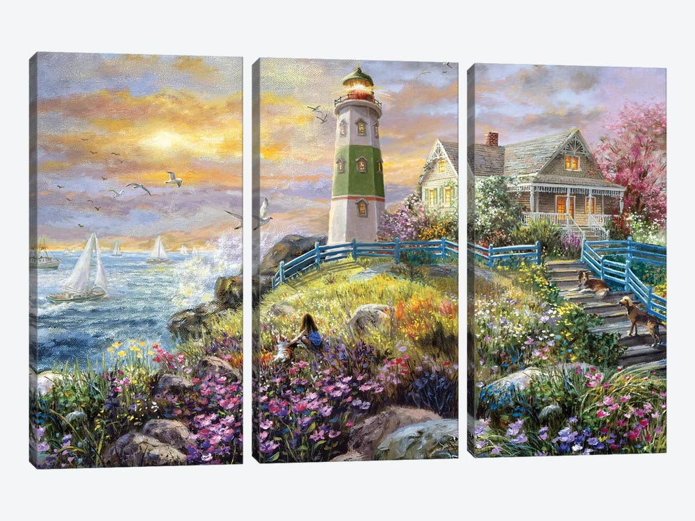 Watching The Sunset by Nicky Boehme 3-piece Canvas Wall Art