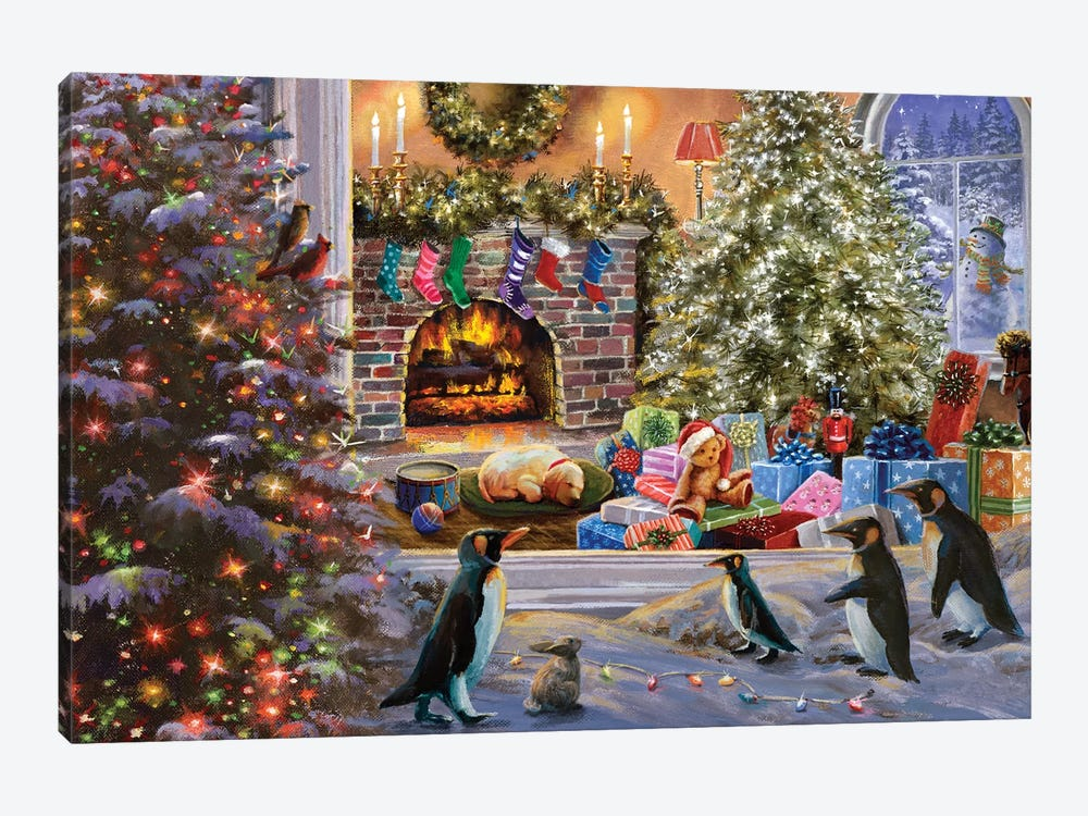 A Magical View To Christmas by Nicky Boehme 1-piece Canvas Print