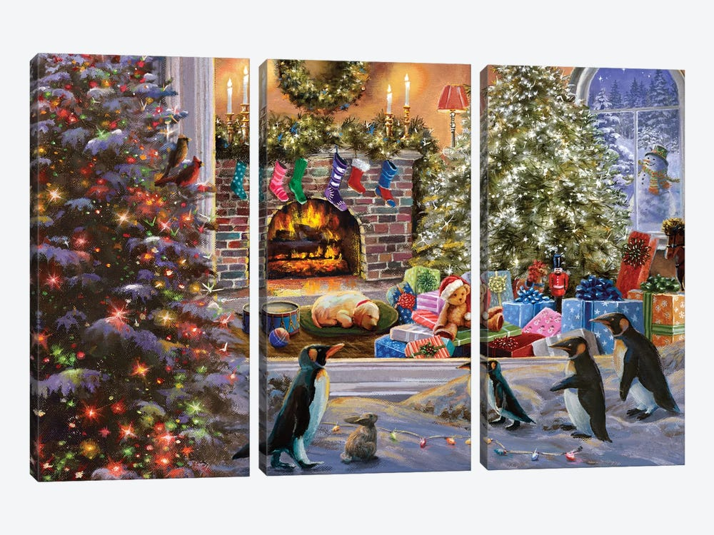 A Magical View To Christmas by Nicky Boehme 3-piece Canvas Art Print