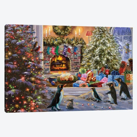 A Magical View To Christmas Canvas Print #BOE192} by Nicky Boehme Canvas Art Print