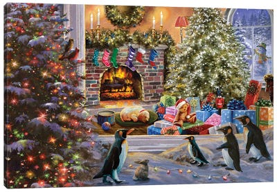 A Magical View To Christmas Canvas Art Print