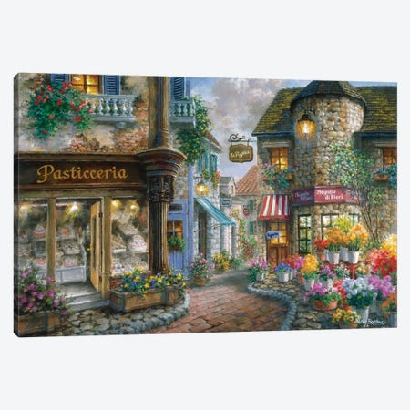 Bello Piazza Canvas Print #BOE19} by Nicky Boehme Canvas Print