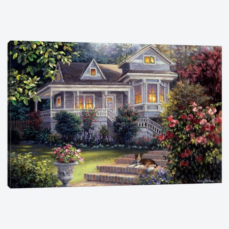 A Canine Sanctuary Canvas Print #BOE1} by Nicky Boehme Canvas Wall Art