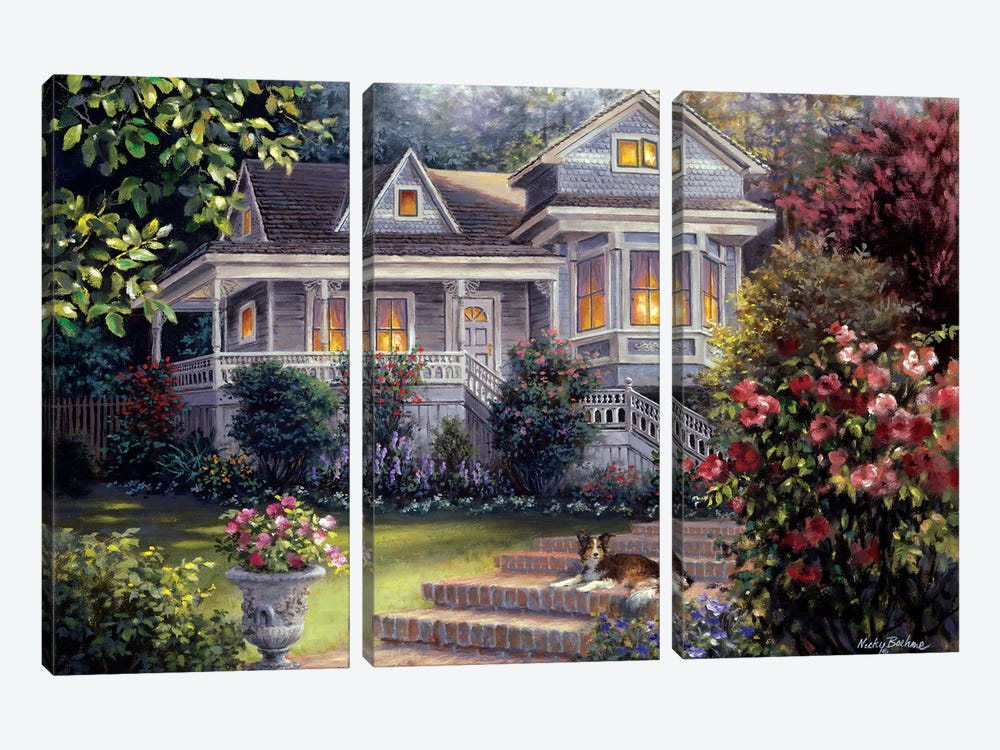 A Canine Sanctuary by Nicky Boehme 3-piece Canvas Print