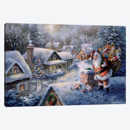 Bringing Joy And Happiness Canvas Print #BOE21} by Nicky Boehme Canvas Artwork