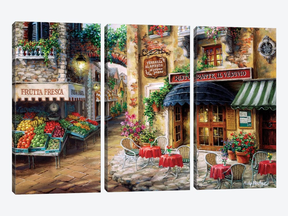 Buon Appetito by Nicky Boehme 3-piece Canvas Print