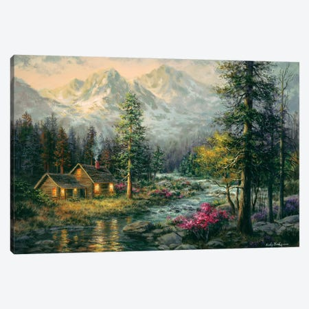 Camper's Cabin Canvas Print #BOE23} by Nicky Boehme Canvas Artwork