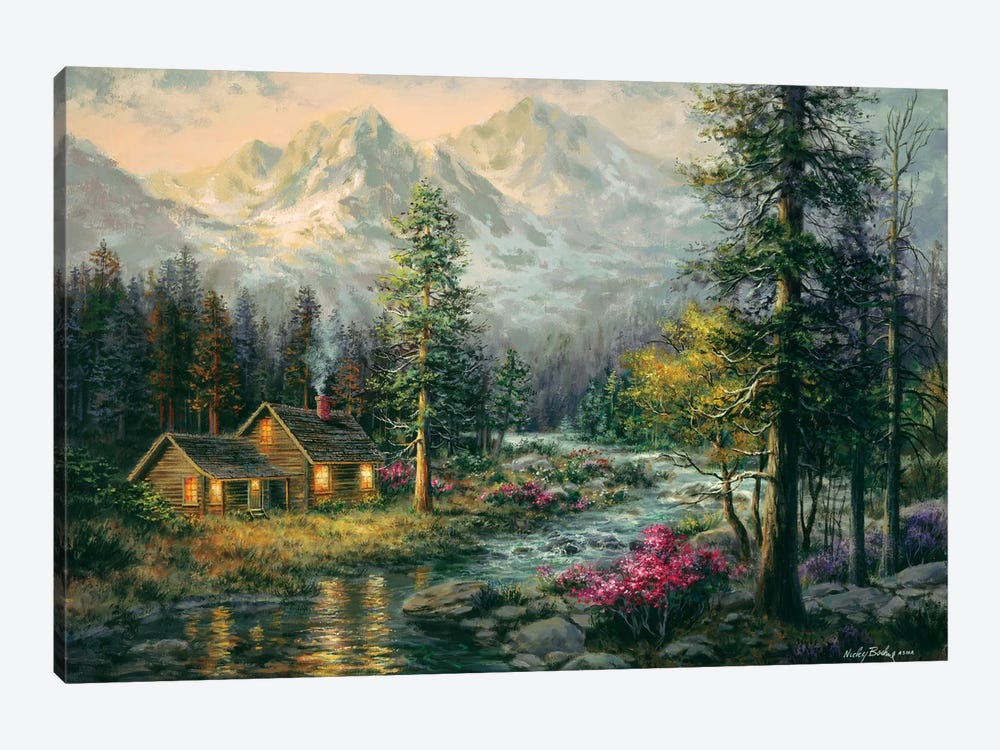 Camper's Cabin by Nicky Boehme 1-piece Canvas Artwork