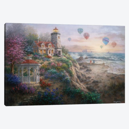 Charming Tranquility I Canvas Print #BOE26} by Nicky Boehme Canvas Print