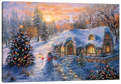 Christmas Cottage I Canvas Art Print