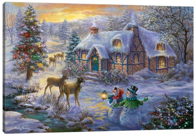 Christmas Cottage II Canvas Art Print