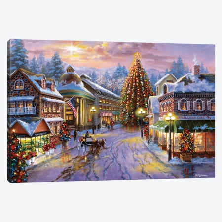 Christmas Eve Canvas Print #BOE30} by Nicky Boehme Art Print