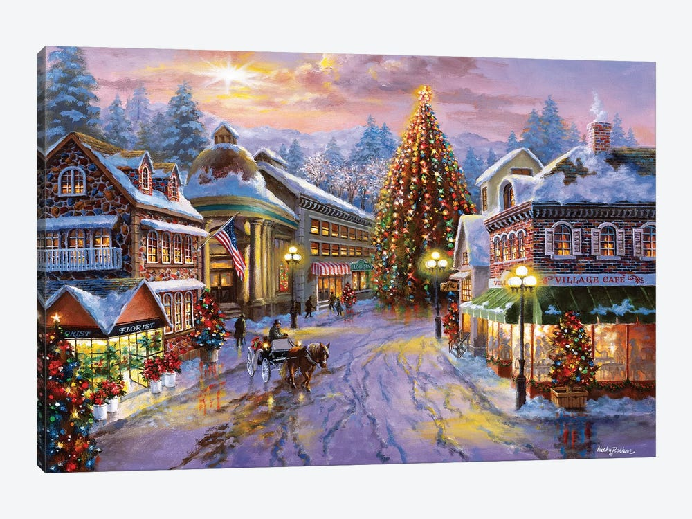 Christmas Eve by Nicky Boehme 1-piece Canvas Wall Art