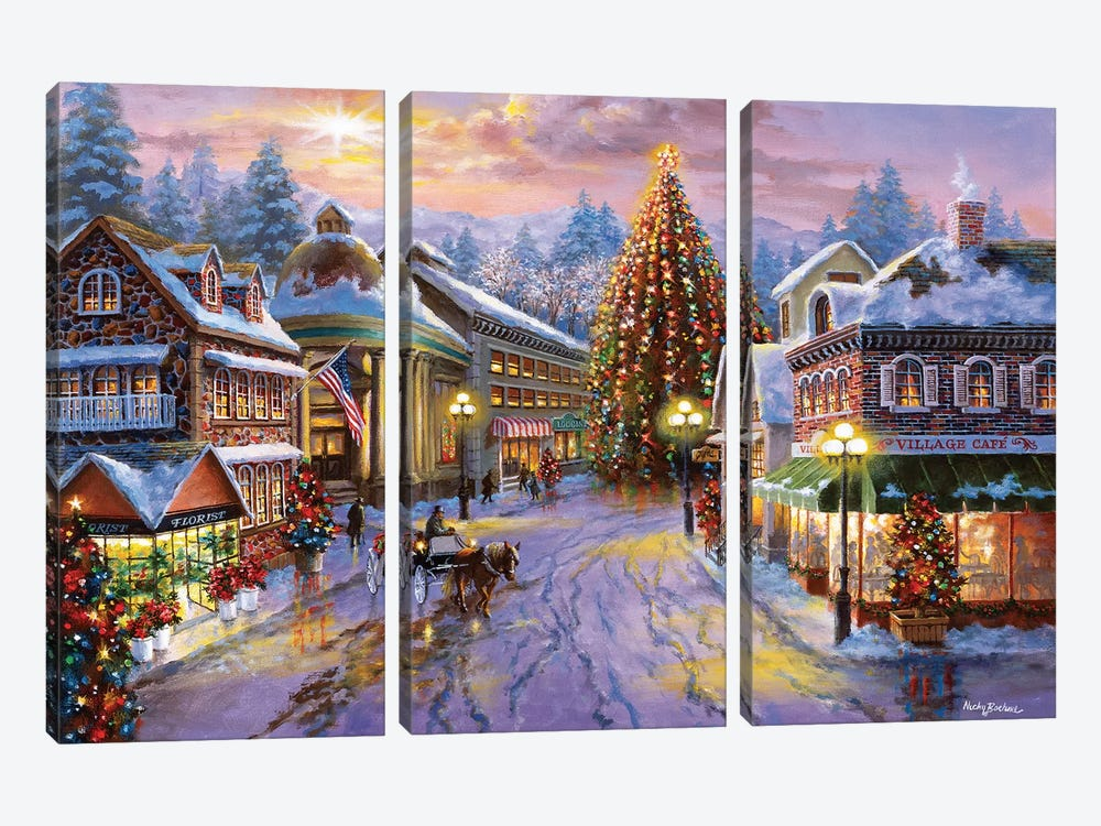 Christmas Eve by Nicky Boehme 3-piece Canvas Artwork