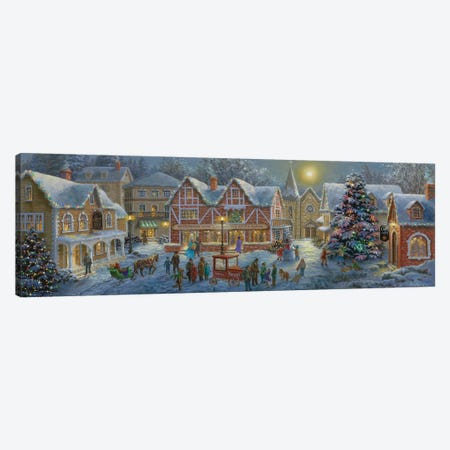 Christmas Village Canvas Print #BOE31} by Nicky Boehme Art Print