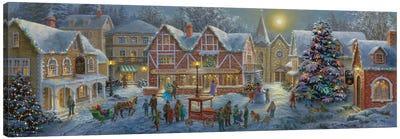 Christmas Village Canvas Art Print