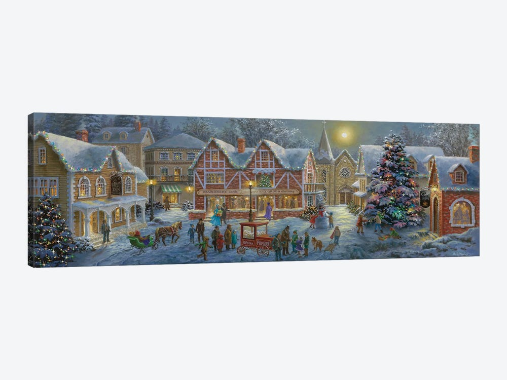 Christmas Village by Nicky Boehme 1-piece Art Print