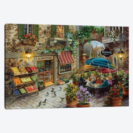 Contentment Canvas Print #BOE34} by Nicky Boehme Canvas Wall Art