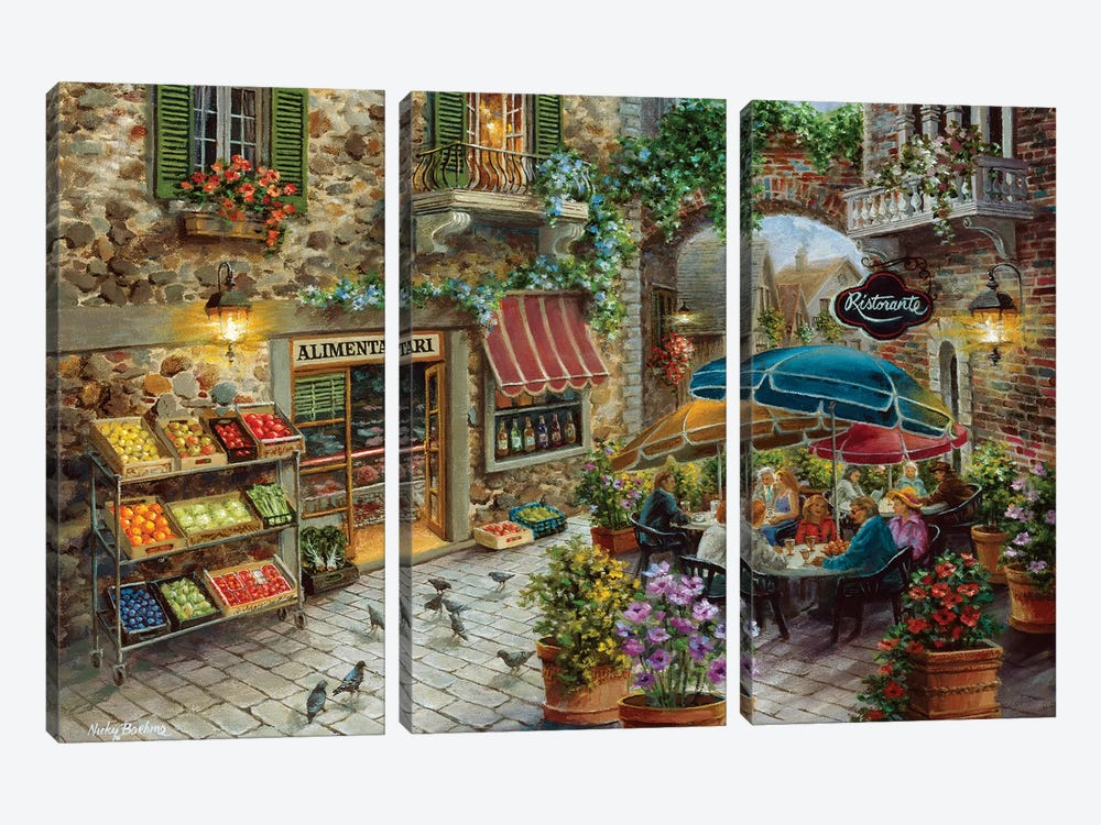 Contentment by Nicky Boehme 3-piece Canvas Wall Art