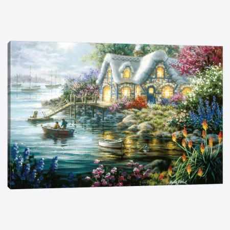 Cottage Cove Canvas Print #BOE35} by Nicky Boehme Canvas Wall Art